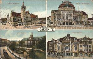 Chemnitz Rathaus Stadttheater Centraltheater Rathaus Kat. Chemnitz