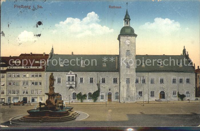 Freiberg Sachsen Rathaus Denkmal Otto des Reichen Kat. Freiberg