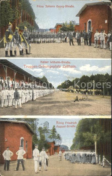 Zeithain Truppenuebungsplatz Prinz Johann Georg  Strasse Kaiser Wilhelm  Strasse Kat. Zeithain