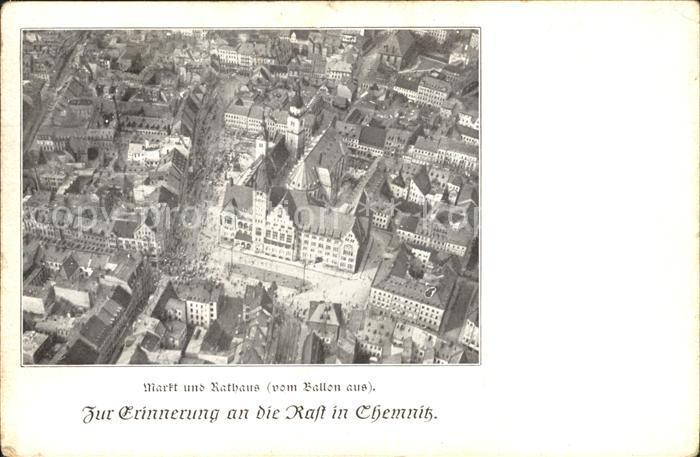 Chemnitz Markt Rathaus Kat. Chemnitz