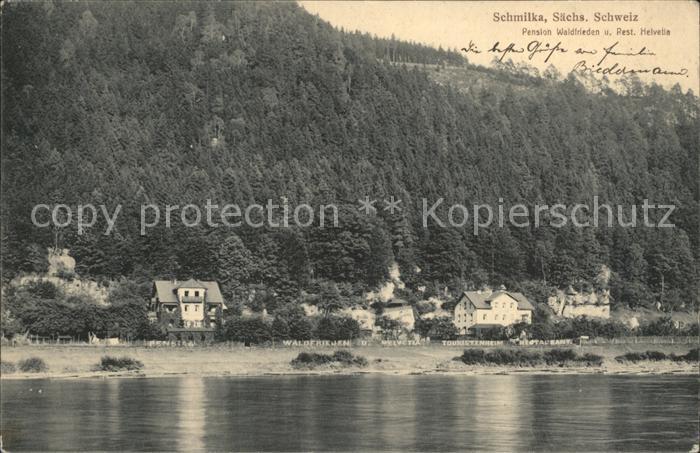 Schmilka Pension Waldfrieden  Kat. Bad Schandau