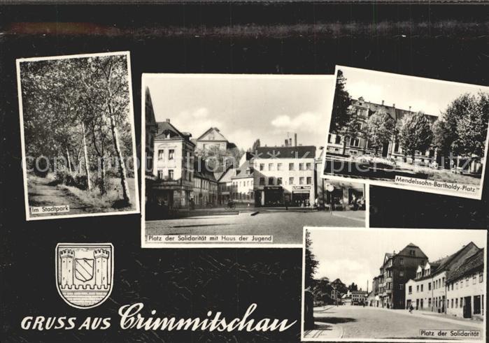 Crimmitschau Stadtpark Platz der Solidaritaet Haus der Jugend Mendelsohn Bartholdy Platz Kat. Crimmitschau