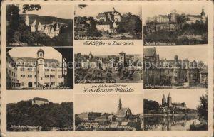 Zwickau Sachsen Mulde Schlosser Waldenburg  Wiesenburg Glauchau Wolkenburg Ostersein Stein Hartenstein Kat. Zwickau