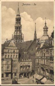 Zwickau Sachsen Partie mit Kirche Kat. Zwickau
