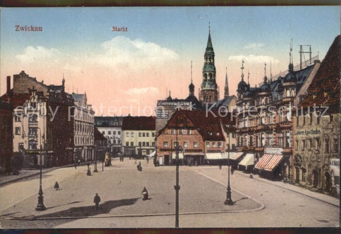 Zwickau Sachsen Markt Kat. Zwickau