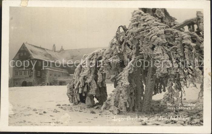 Klingenthal Vogtland Jugendherberge Aschberg im Winter Kat. Klingenthal Sachsen