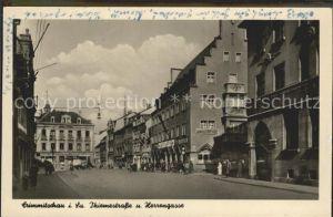 Crimmitschau Thiemestrasse und Herrengasse Kat. Crimmitschau