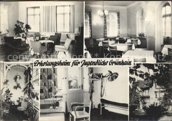 Gruenhain Erzgebirge Jugenderholungsheim / Beierfeld Erzgebirge /Erzgebirgskreis LKR