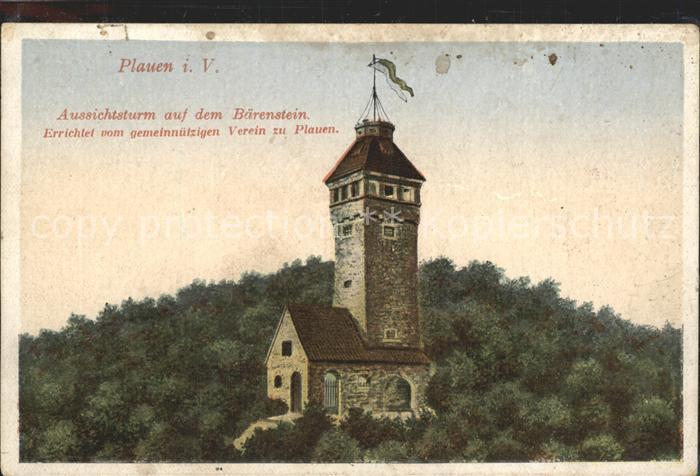 Plauen Vogtland Aussichtsturm auf dem Baerenstein Kat. Plauen