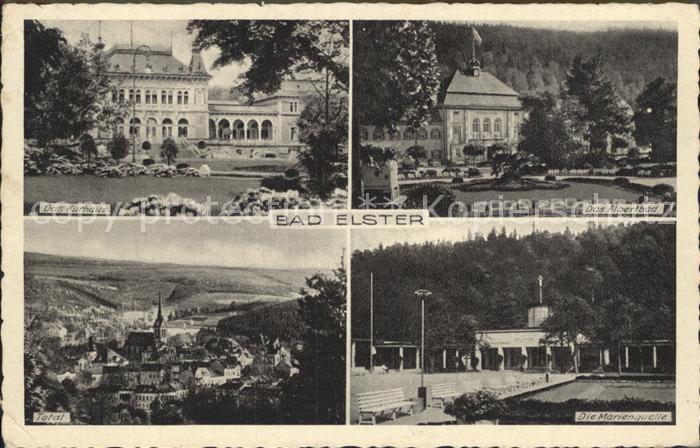 Bad Elster Total Kurhaus Albertbad Marienquelle Kat. Bad Elster