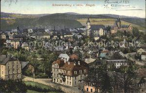Schwarzenberg Erzgebirge Teilansicht  Kat. Schwarzenberg