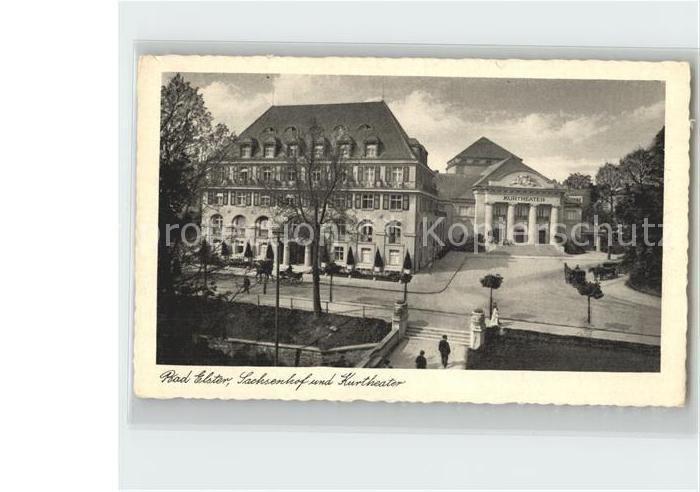 Bad Elster Hotel Sachsenhof und Kurtheater Kat. Bad Elster