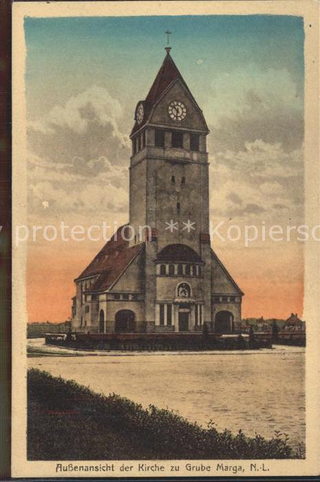 Grube Marga Kirche Kat. Senftenberg