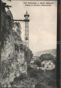 Bad Schandau Aufzug zu Sendigs Villenkolonie Kat. Bad Schandau