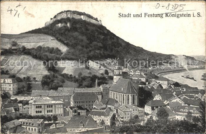 Koenigstein Saechsische Schweiz Stadt Festung  Kat. Koenigstein Saechsische Schweiz