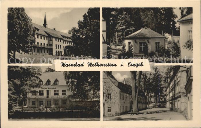 Warmbad Wolkenstein Klubhaus Kurhaus Quelle  Kat. Wolkenstein