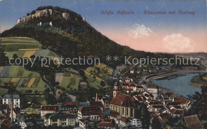Koenigstein Saechsische Schweiz Festung  Kat. Koenigstein Saechsische Schweiz
