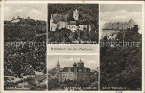 Zschopau Schloesser Augustusburg Scharfenstein Wildeck und Wolkenstein Kat. Zschopau