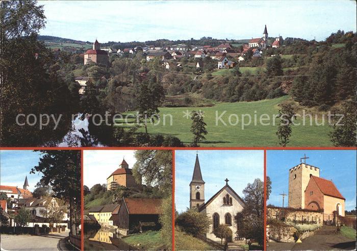 Trausnitz Gesamtansicht Kirche  Kat. Trausnitz