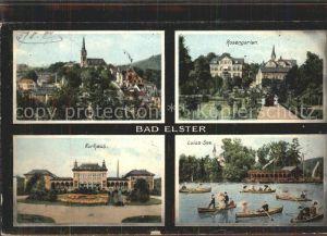 Bad Elster Rosengarten Luisa  See Kurhaus  Kat. Bad Elster