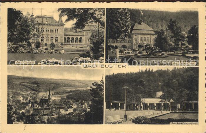 Bad Elster Albertbad Marienquelle Total Kurhaus Kat. Bad Elster