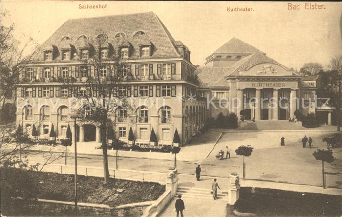 Bad Elster Sachsenhof Kurtheater Kat. Bad Elster
