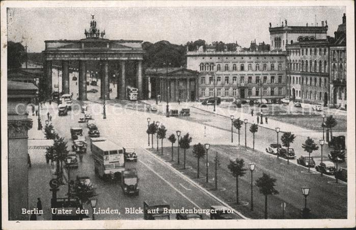 Berlin Unter den Linden Brandenburger Tor Kat. Berlin