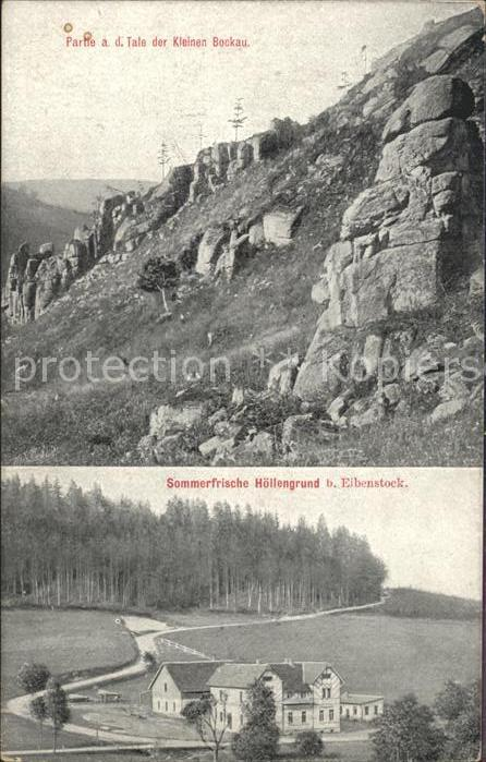 61873023 Eibenstock Tal der Kleinen Bockau Sommerfrische H?llengrund Tal der Kleinen Bockau Sommerfrische H?llengrund Alte Ansic