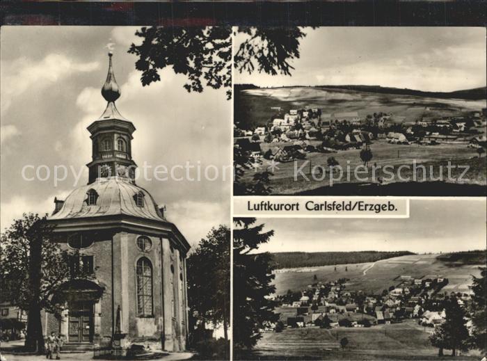 Carlsfeld Erzgebirge Historische Kirche Panorama Luftkurort Kat. Eibenstock