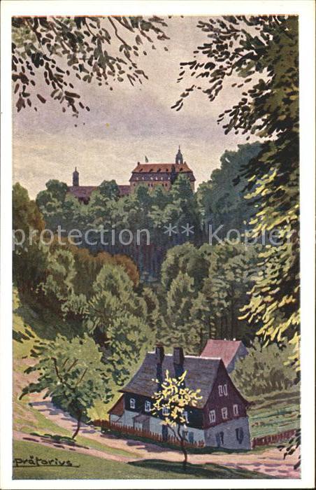 Lichtenwalde Sachsen Schloss Lichtenwalde Kuenstlerkarte / Niederwiesa /Mittelsachsen LKR
