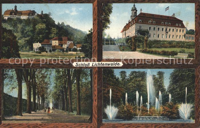 Lichtenwalde Sachsen Schloss Lichtenwalde Allee Wasserspiele / Niederwiesa /Mittelsachsen LKR