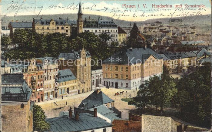 Plauen Vogtland Hradschin und Syrastrasse Kat. Plauen