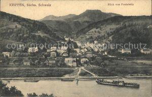 Krippen Bad Schandau Elbepartie Blick von Postelwitz Kat. Bad Schandau