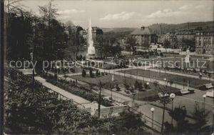 Aue Erzgebirge Stadtgarten mit Denkmal Kat. Aue