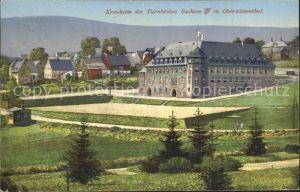 Oberwiesenthal Erzgebirge Kreisheim des Turnvereins Sachsen Kat. Oberwiesenthal