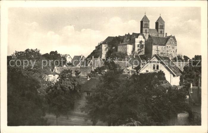 Quedlinburg Schloss und Dom Kat. Quedlinburg