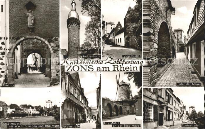Zons Zollfestung Rheinstrasse Muehle Rheintor Kat. Dormagen