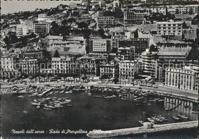 Napoli Neapel Fliegeraufnahme Hafen Kat. Napoli