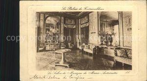 Fontainebleau Seine et Marne Palais de Fontainebleau Salon Musique Marie Antoinelle Kat. Fontainebleau