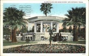 San Antonio Texas Alamo Plaza and Band Stand Kat. San Antonio