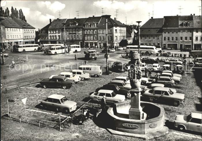 Bischofswerda Markt Brunnen Kat. Bischofswerda