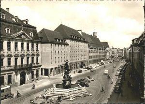 Augsburg Maximilianstr mit Herkulesbrunnen Schaezler Haus und Palasthotel Drei Mohren Kat. Augsburg