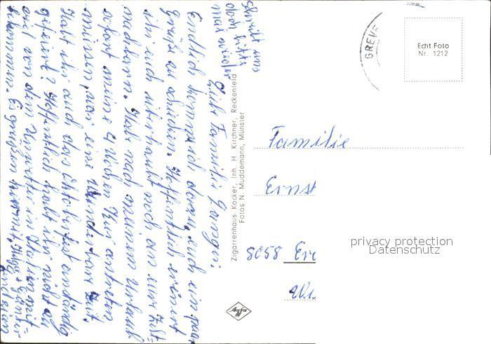 Reckenfeld Kath Kirche Ev Kirche Freilichtbuehne Dicke Buchen Ev und Kath Schule Kat. Greven 1