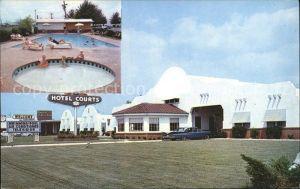 Dallas Texas Alamo Plaza Hotel Courts Swimmingpool Kat. Dallas