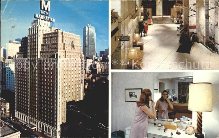 New York City The Royal Manhatten Hotel Halle Zimmer / New York /