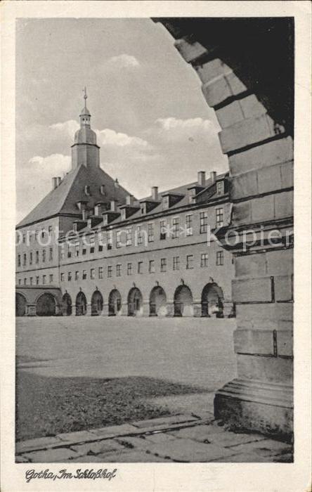 Gotha Thueringen Schlosshof Kat. Gotha