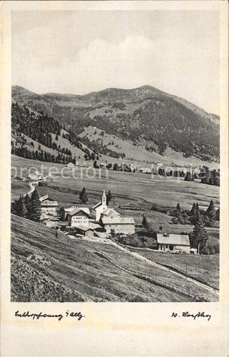 Balderschwang Panorama Berggasthof Pension Kienle Kat. Balderschwang