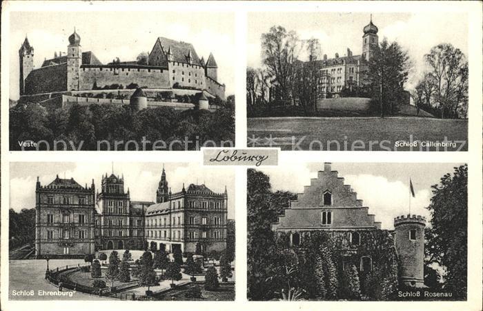 Loburg Nordrhein Westfalen Veste Schloss Callenberg Schloss Ehrenburg Schloss Rosenau Kat. Ostbevern