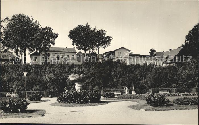 Heringsdorf Ostseebad Usedom Promenadenanlage mit FDGB Heim Ostseeblick Kat. Heringsdorf