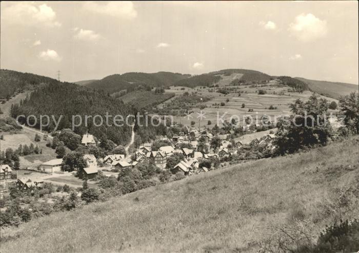 Schoenbrunn Greiz Blick vom Drahtberg Kat. Vogtlaendisches Oberland